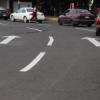 Pintan zonas peatonales en el centro