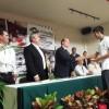 Visita plantel Delicias el director general de Conalep en el estado; entrega anteojos