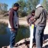 Colocan 'fantasmas' luminosos sobre el río San Pedro
