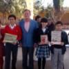 Entrega libros el escritor Carlos Gallegos a Colegio La Paz