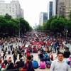 Apoyan miles a los maestros del CNTE