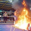 Se incendia luchador en Monclova, Coahuila