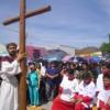 Realiza parroquia de San Pablo Apóstol Viacrucis viviente
