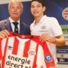 Presenta PSV a Chucky Lozano
