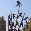 Lesionados bomberos en 'Lunes Revolucionario'